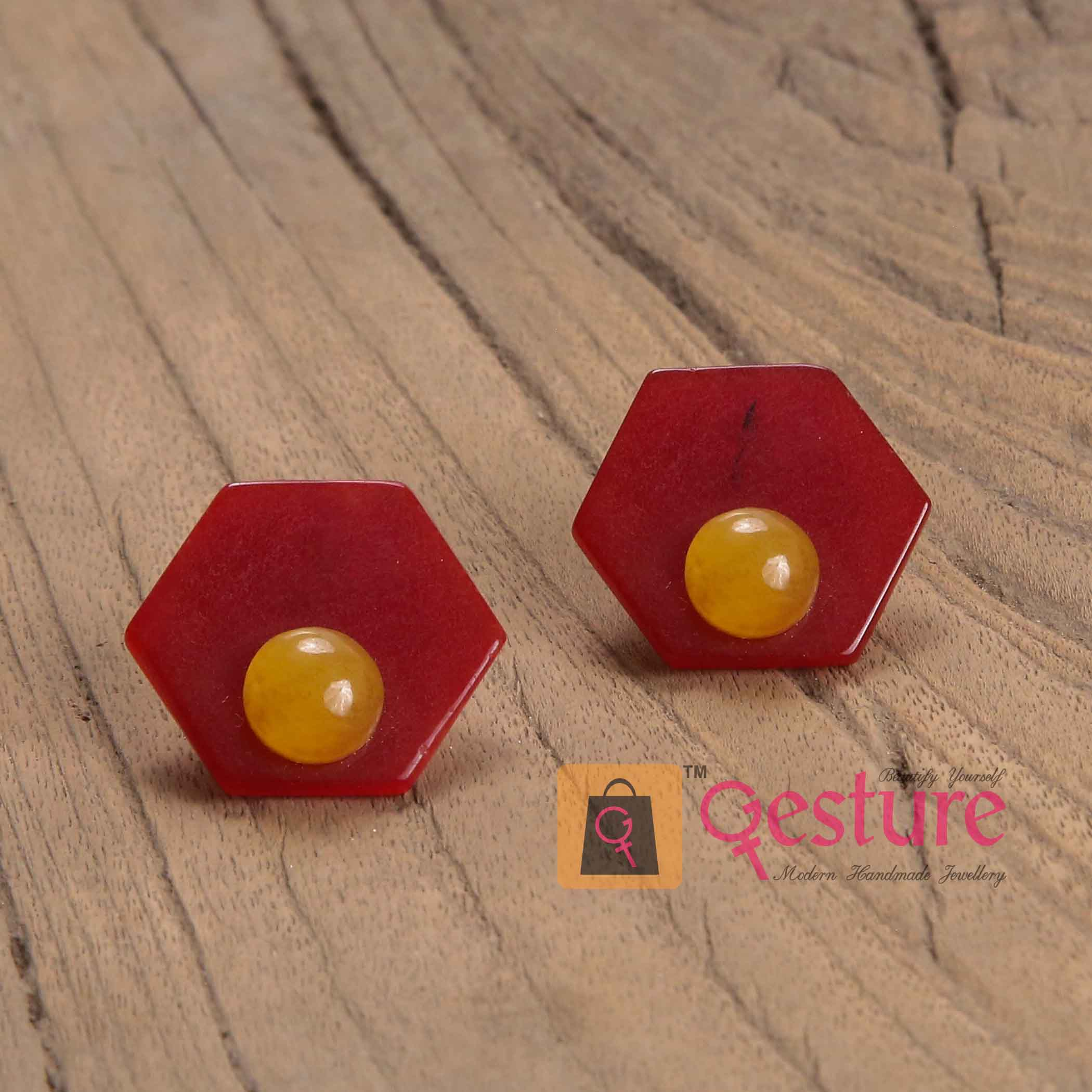 Overlapping Stud  Earrings