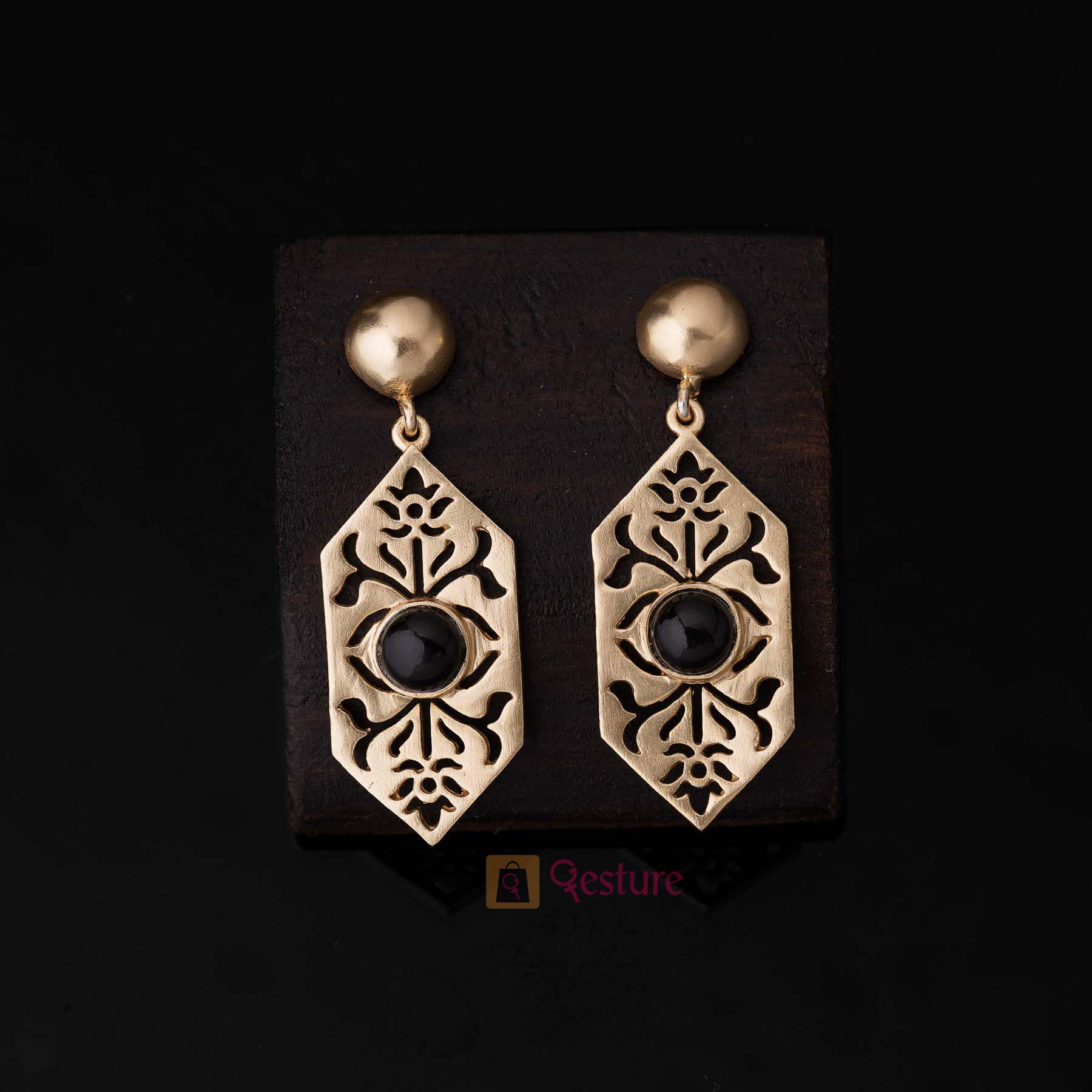 Lattice Dangle Earrings