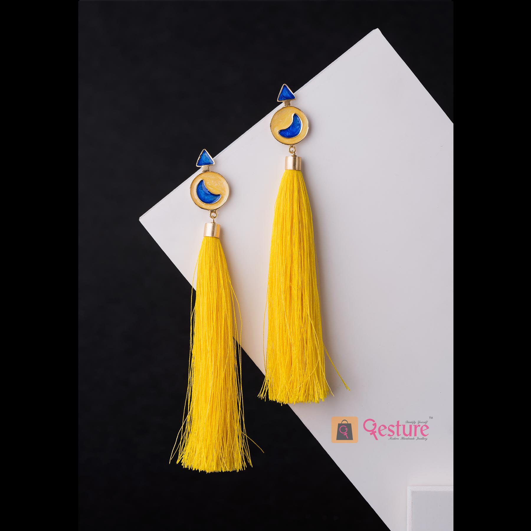 Tassel Enamel Tassel Earrings